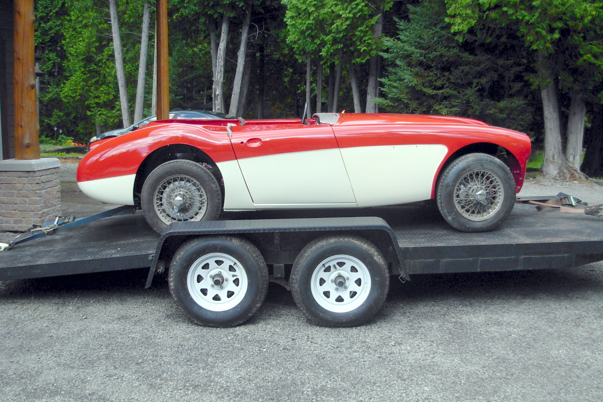 Austin Healy Red White